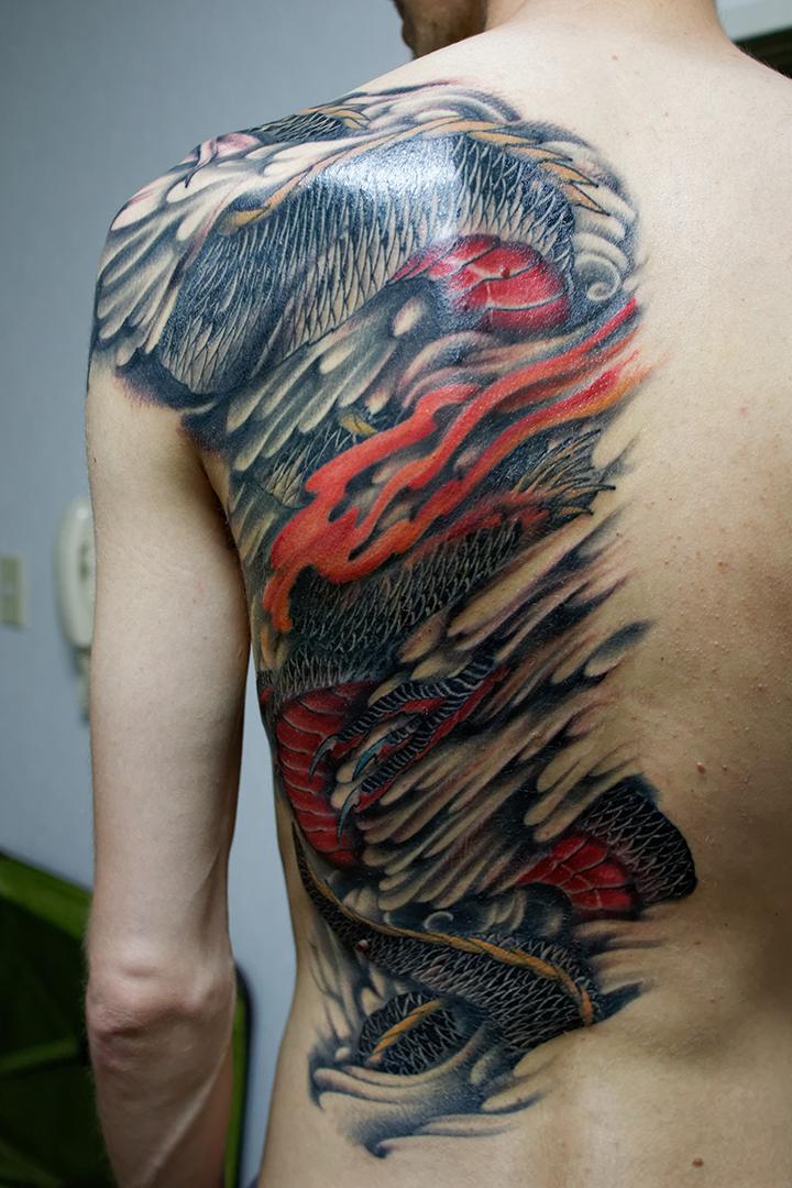 Le tatouage japonais maj wakarimasen - Tatouage blanc sur peau noir ...